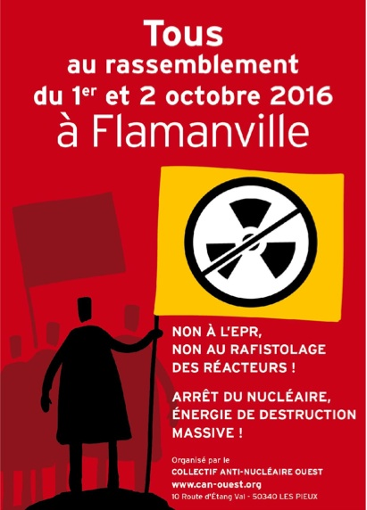Tous à Flamanville les 1 et 2 octobre pour demander l'arrêt du nucléaire en France